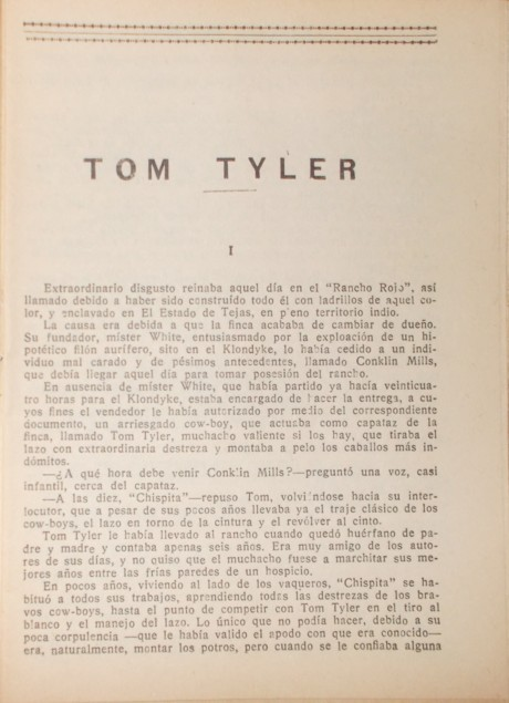 First page of Tom Tyler King of the Cowboys